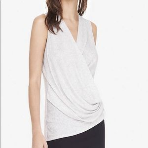 Express One Eleven Surplice Tank Grey Small